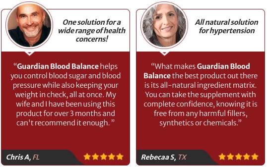 Guardian Botanicals Blood Balance Testimonials