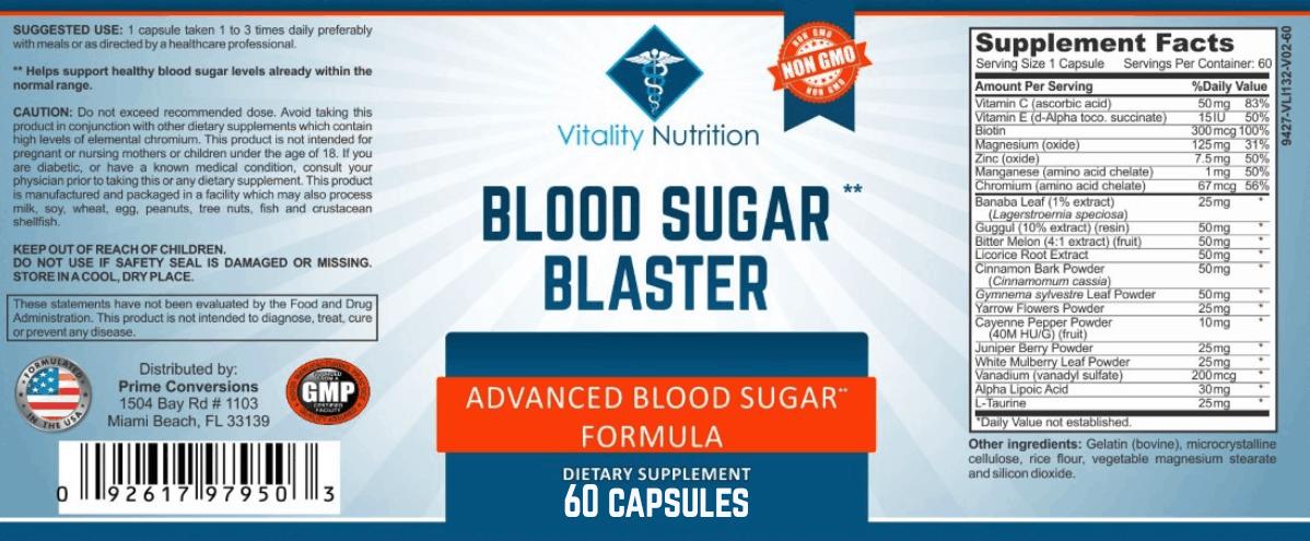 Blood Sugar Blaster Ingredients