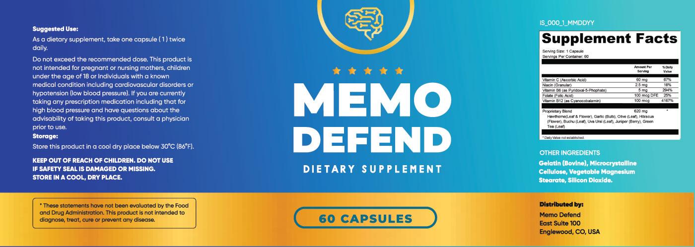 Memo Defend Ingredients